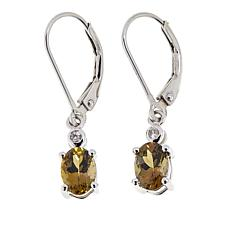Colleen Lopez Zoisite and White Zircon Leverback Earrings