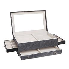 """Colleen's Prestige™ Dragon Skin-Embossed """"Everything"""" Jewelry Box"""