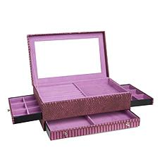 "Colleen's Prestige™ Dragon Skin-Embossed ""Everything"" Jewelry Box"