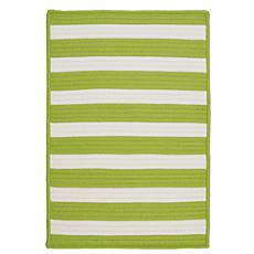 Colonial Mills Stripe It 5' x 8' Rug - Bright Lime