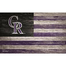 Colorado Rockies Distressed Flag 11x19