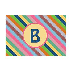 Colorful Stripes Personalized Doormat