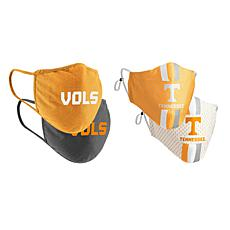 Colosseum Collegiate NCAA Team Logo Face Covering 4-Pk - Tennessee