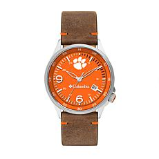 Columbia Men's Canyon Ridge Clemson Saddle Leather Strap Watch