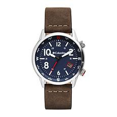 "Columbia ""Outbacker"" Men's Blue Dial Saddle Leather  Strap Watch"