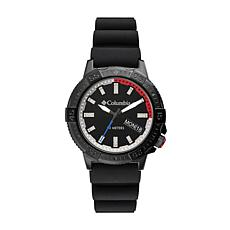 "Columbia ""Peak Patrol"" Men's Black Dial Black Silicone Strap Watch"