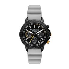 "Columbia ""Peak Patrol"" Men's Black Dial Gray Silicone Strap Watch"