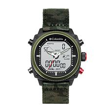 "Columbia ""Ridge Runner"" Men's Analog-Digital Camo Nylon Strap Watch"