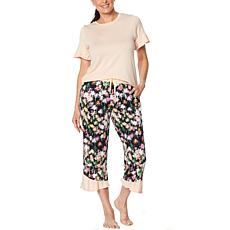 Comfort Code Flutter Tee with Cropped Pant Set
