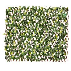 Compass Home Expandable Faux Ivy Privacy Fence with Leaves