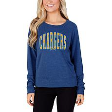 Concept Sports Mainstream Ladies Knit Long Sleeve Top - Chargers