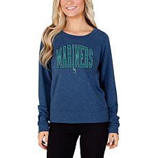 Concepts Sport Mainstream Ladies Knit Long Sleeve Top - Mariners