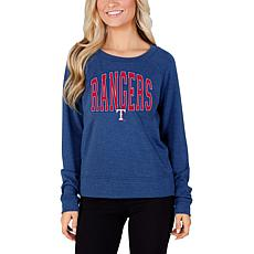 Concepts Sport Mainstream Ladies Knit Long Sleeve Top - Rangers