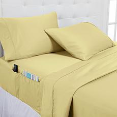 Concierge Collection 100% Cotton 400TC 4-pc Cal King Sheets w/Pockets