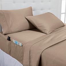 Concierge Collection 100% Cotton 400TC 4-pc Full Sheet Set w/Pockets