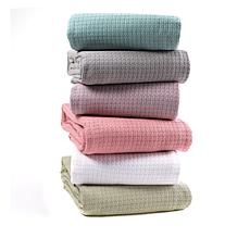 Concierge Collection 100% Cotton Waffle Weave King/Cal King Blanket