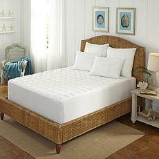 Concierge Collection 400TC 100% Cotton Overfilled King Mattress Pad