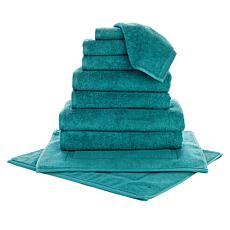 Concierge Collection Hotel 10-Piece 100% Turkish Cotton Towel Set