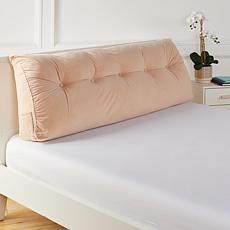 Concierge Collection Queen Tufted Velvet Bolster Pillow