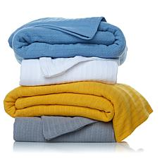 Concierge Elements 100% Cotton Mini Cable Blanket