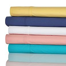 Concierge Prewashed 100% Cotton Percale 4-piece Queen Sheet Set