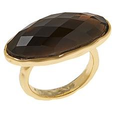 Connie Craig Carroll Jewelry Avery Gemstone East/West Hammered Ring