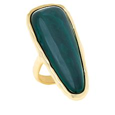 Connie Craig Carroll Jewelry Ella Gemstone Elongated Hammered Ring