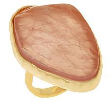 Connie Craig Carroll Jewelry Ivy Rose Quartz Freeform Ring
