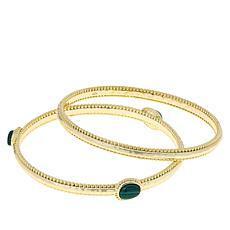 Connie Craig Carroll Jewelry Leigh Malachite Bracelet 2-piece Set