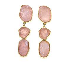 Connie Craig Carroll Jewelry Mila Rose Quartz  Drop Earrings