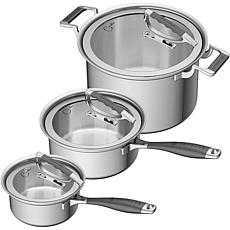 CookCraft 6-Piece Tri-Ply Stainless Steel Legacy Cookware Set