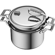 CookCraft 8-Qt. Tri-Ply Stainless Steel Stock Pot Strainer/Steamer Set