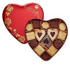 Cookies Con Amore 2 lb. Assorted Gourmet Cookies in Heart Tin
