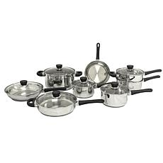 CooknCo 14-piece Stainless Steel Cookware Set