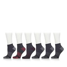 Copper Fit™ 6 Pair Ladies Seamless Quarter Socks