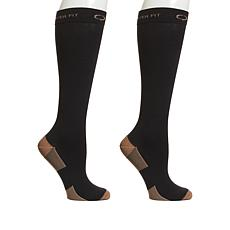 Copper Fit KneeKnee-High Compression Socks 2-pack