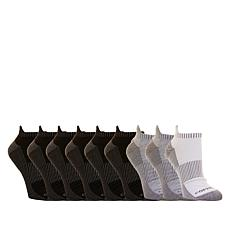 Copper Fit™ Men's 10 Pair Ankle Guard Low Cut Socks