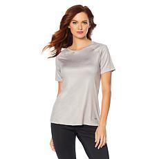Copper Fit™ Zippered Cold-Shoulder Top