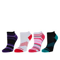 Copper Life 4-pack Women's Ankle Socks - 1 with Grippers