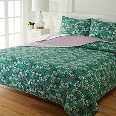 Cottage Collection 100% Cotton Stitched 3-pc Quilt Set - Garden