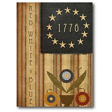 "Courtside Market 1776 Country Flag 16"" x 20"" Canvas Wall Art"