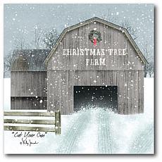 Courtside Market Christmas Tree Farm 16x16 Canvas Wall Art