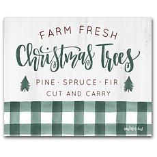 Courtside Market Farm Fresh Christmas Trees 12x18 Canvas Wall Art