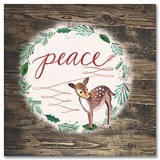 Courtside Market Holiday Peace 14x14 Wood Art