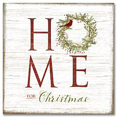 Courtside Market Home For Christmas 16x16 Canvas Wall Art