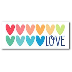 "Courtside Market Love Heart Canvas Wall Art - 12"" x 30"""