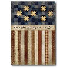 """Courtside Market Patriotic Quilted Canvas Wall Art - 20"""" x 24"""""""
