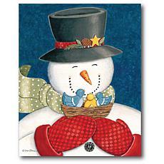 Courtside Market Snowman II 20x24 Canvas Wall Art