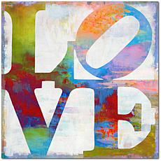 """Courtside Market Staked Love Canvas Wall Art - 24"""" x 24"""""""