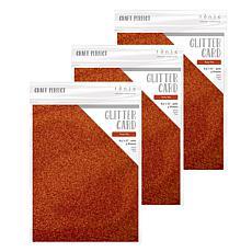 Craft Perfect Glitter Card Ruby Ritz 3-Pack